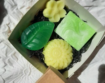 Soap bars in a set, vegan, handmade, decorative, gift packaging, composition as desired or selection in great fragrances and colors