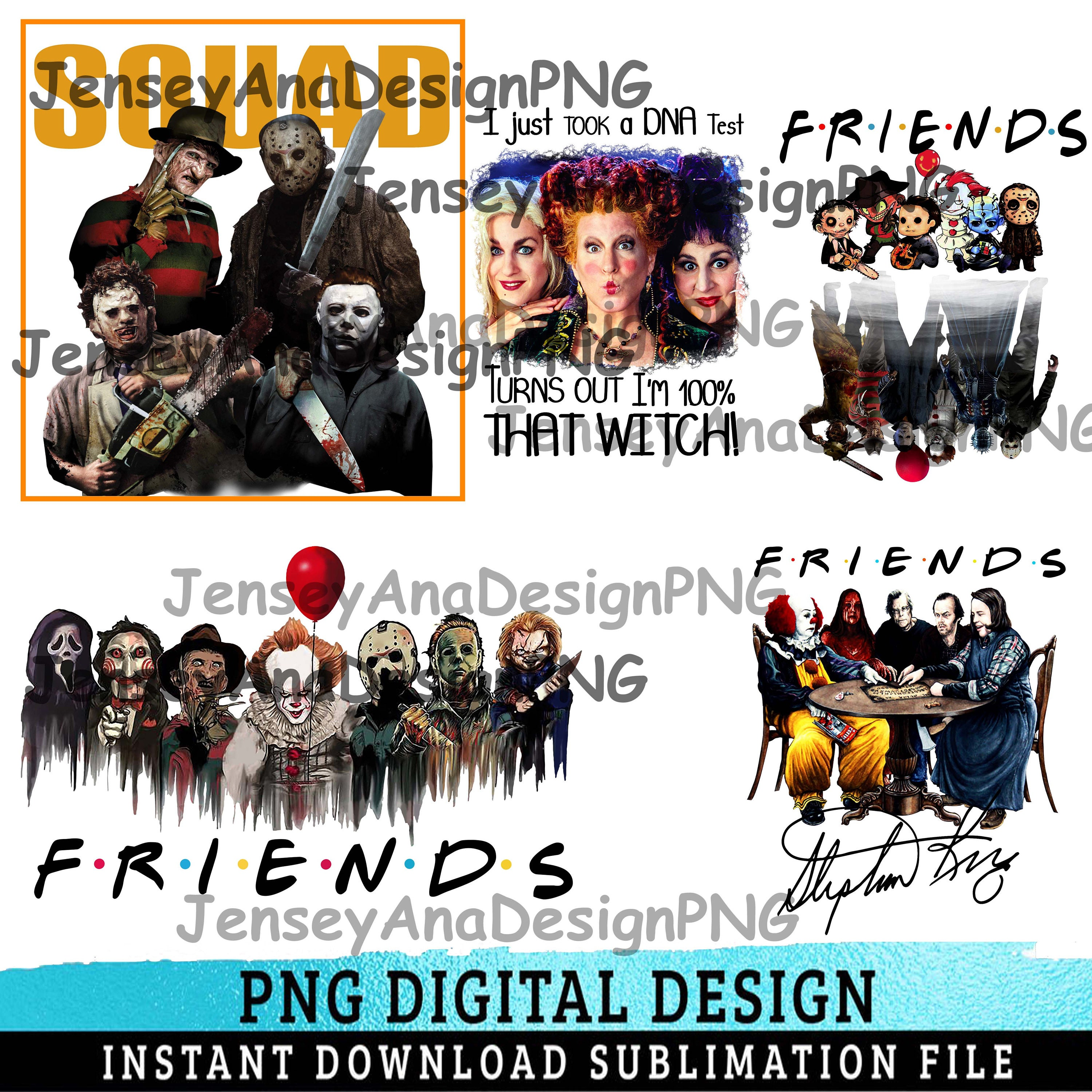 Combo 5 File Png Halloween Horror Movie Killers, Scary Friends png, Friends Halloween png, Halloween png, Funny, Horror Squad,