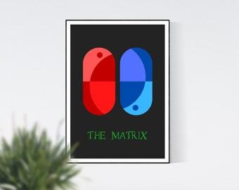 The Matrix Minimalist Film Poster, Movie Poster, Minimalist Poster, Wall Art, Home Decor, Wall Art Prints, Digital Print, Digital Art