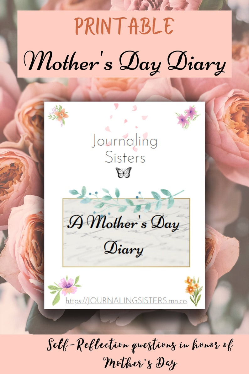 Printable Mother's Day Journaling Diary Journaling image 0
