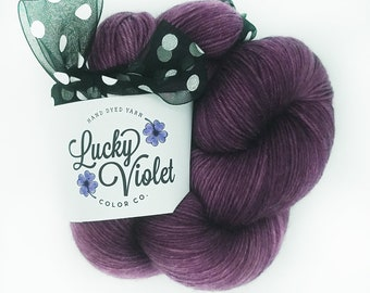 OOAK #301 Hand Dyed / Painted Indie Sock Yarn from Lucky Violet Color Co