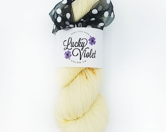 OOAK #367 Hand Dyed / Painted Indie Sock Yarn from Lucky Violet Color Co