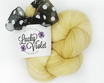 OOAK #328 Hand Dyed / Painted Indie Sock Yarn from Lucky Violet Color Co
