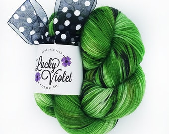 Foliage 2 Hand Dyed / Painted Indie Sock Yarn from Lucky Violet Color Co