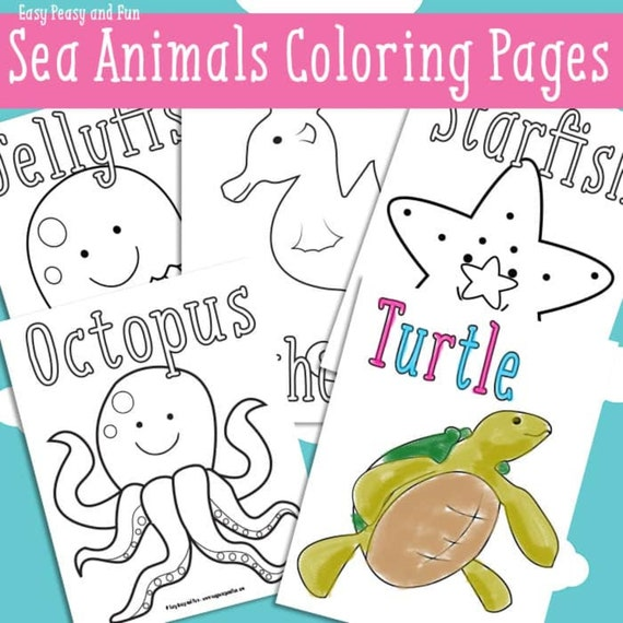 22 Sea Animals Coloring Pages for Kids Printable Ocean