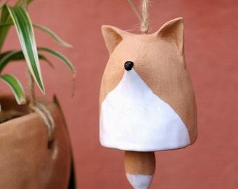 Fox-shaped ceramic bell