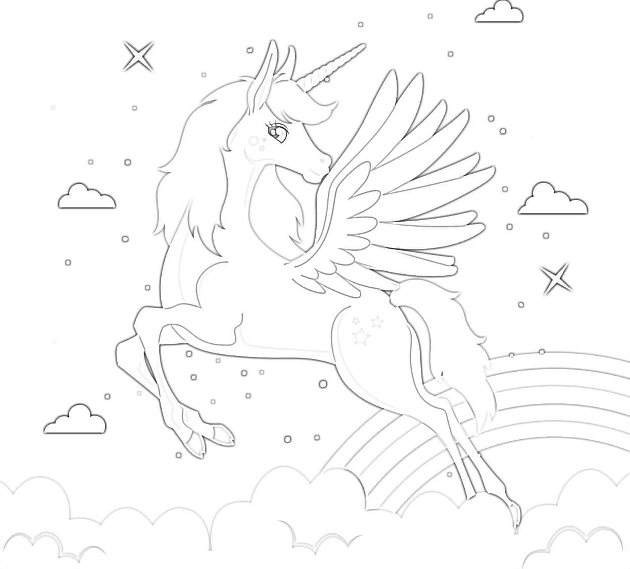 unicorn malvorlagen für kinder 20 seiten digitaler