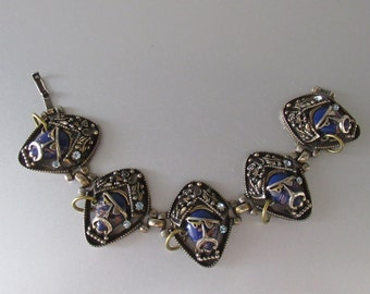 RARE SELRO Vintage Bracelet 1950s USA Figural Pirate Buccaneer
