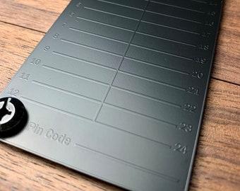 Black Seed Ink | Cryptocurrency Steel Seed Wallet Storage | Bitcoin & Crypto Steel Seed Backup Tool | Metal Bitcoin Seed Storage