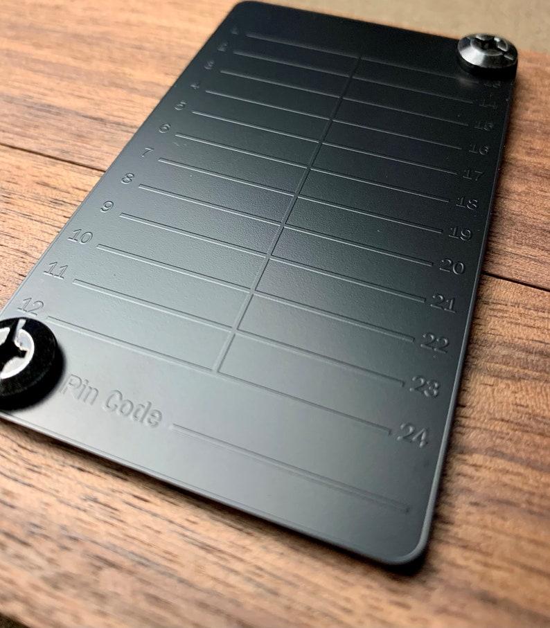 Black Seed Ink  Cryptocurrency Steel Seed Wallet Storage  image 1