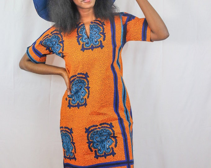 Zuri African Print Shirtdress Hat NOT included