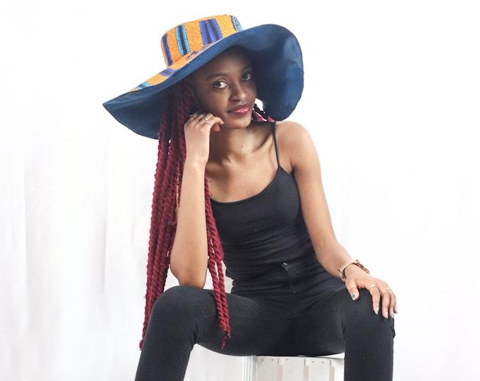 Keza Oversized African Print Hat