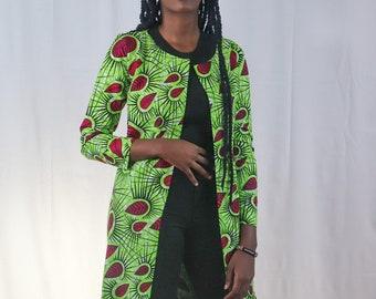 Ankara blazer / dashiki blazer /African print blazer/ Kitenge blazer/ African Print Jacket/ African Print Kimono/ African Print Cover Up