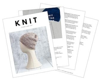 Malabrigo Rasta hat pattern   Hat knitting pattern   Knitting patterns for hats   Chunky knit hat pattern   Beginner knitting pattern