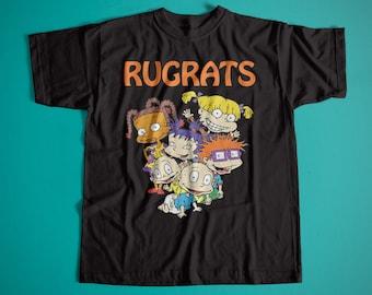 Old School American Series Cartoon Rugrats Retro Cotton T-Shirt / Unisex Vintage Tee / Best Cartoon 90's T-Shirts / Rugrats Family Tees