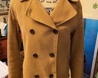 Vintage London Fog corduroy Pea Coat camel tan