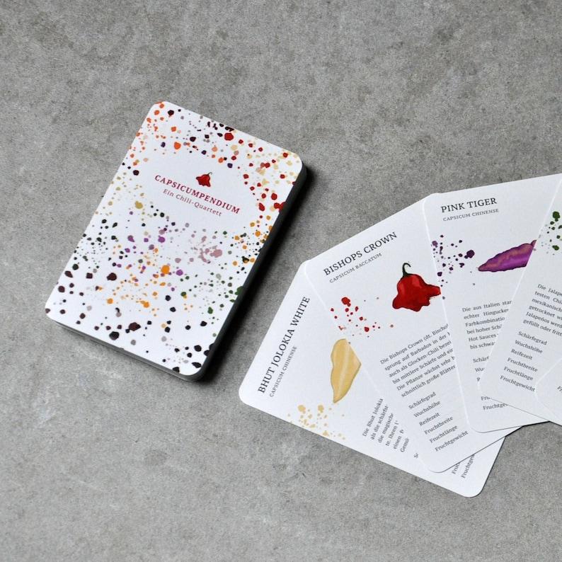 Capsicumpendium Card Game  a Chili Variety Quartet image 0