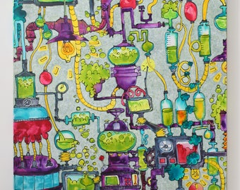 Eye-catcher! Modern, large-format acrylic painting, wall art 160x120, abstract painting, contemporary art, original art, artist