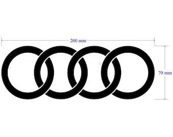 Audi Rings Sticker Brake Caliper Decals Emblem