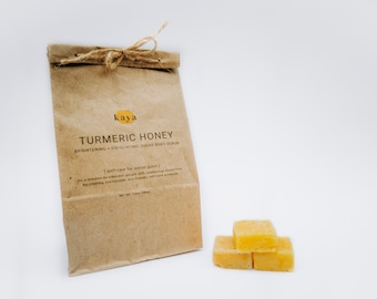 Turmeric Honey Sugar Body Scrub Cubes - Refill | Brightening, Eco-friendly, Exfoliating, Support people with disabilities
