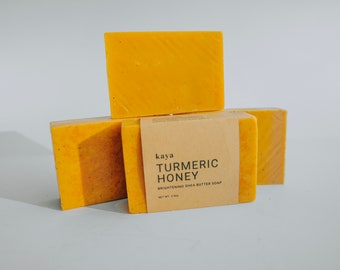 Turmeric Honey Shea Butter Soap | Brightening, Fades Dark Spots, Hyperpigmentation, Scars