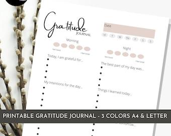 Editable  & Printable Gratitude Planner | Reflection Journal | Affirmation Journal | Mindfulness Planner