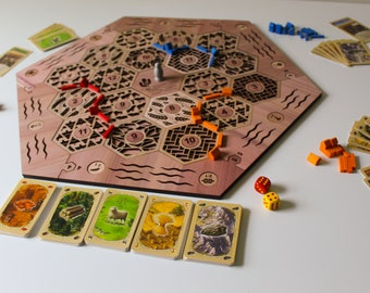 Settlers of Catan Game Board | Laser Cut Board Game | 2-4 Players