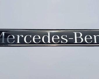Mercedes Side Skirts Fender Emblem Badge Black/Chrome +W.Colors U.Sizes