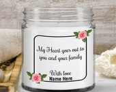 Condolence Gift for Loss for Women , Men—for Wives, Husbands, for Best Friends , Coworkers— 9oz —  Painful Exit Gift — Grief and Loss Candle