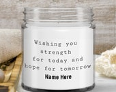 Sympathy gift for loss of mother — scented candle gift for loss of father, loss of mother, wife loss gift —handmade gift—9 oz