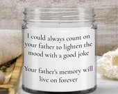 Condolence Candle Gift for Loss of Father — Memory Gift for Women, Men—Funeral Gift for Wives, Husbands, for Best friends, Coworkers— 9oz