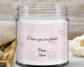 Cute Birthday Gifts for Daughter, Son, in-law, Sister —Floral Themed  — Handmade Vanilla Scented Candle—9oz— Personalized