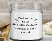 Funny Gift for Air Travel Controller —Funny Aviation Candle Gift for Flight Enthusiast —Birthday Gift, Graduation Gift, Retirement Gift