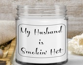 Gift for Husband — Scented Candle Gifts for Amazing Husband— Boyfriend — Vanilla Scented Candle , Gift from Wife — Handmade gifts birthday