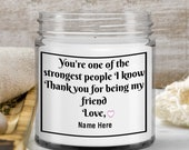 Scented Candle Gift for Bestfriend—Birthday, Friendship Gift —9oz —gift set