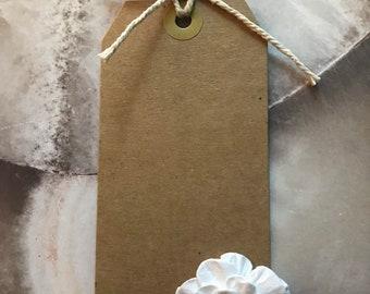 Flower Handmade Paper Gift Tag