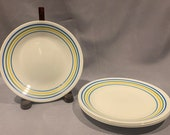 Corelle- quot Bands quot -Set of 4 Bread Butter Plates by Corning Visions