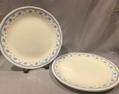 Corelle- quot Morning Blue quot -Set of 3 Dinner Plates by Corning Visions