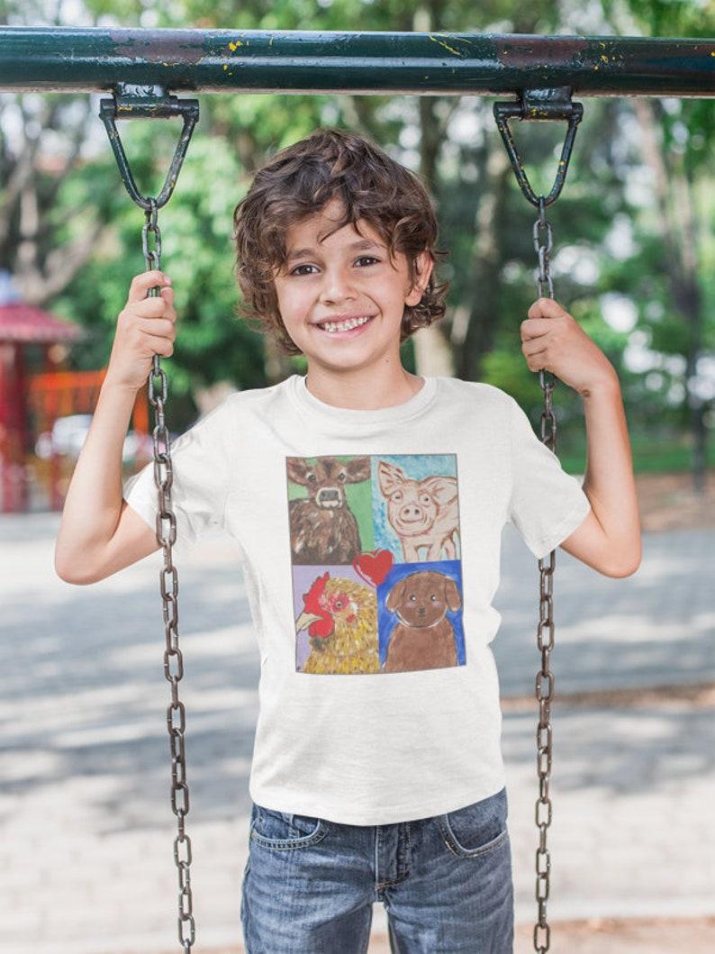 Love All Animals  vegan shirt vegan t shirt vegan tshirt image 0
