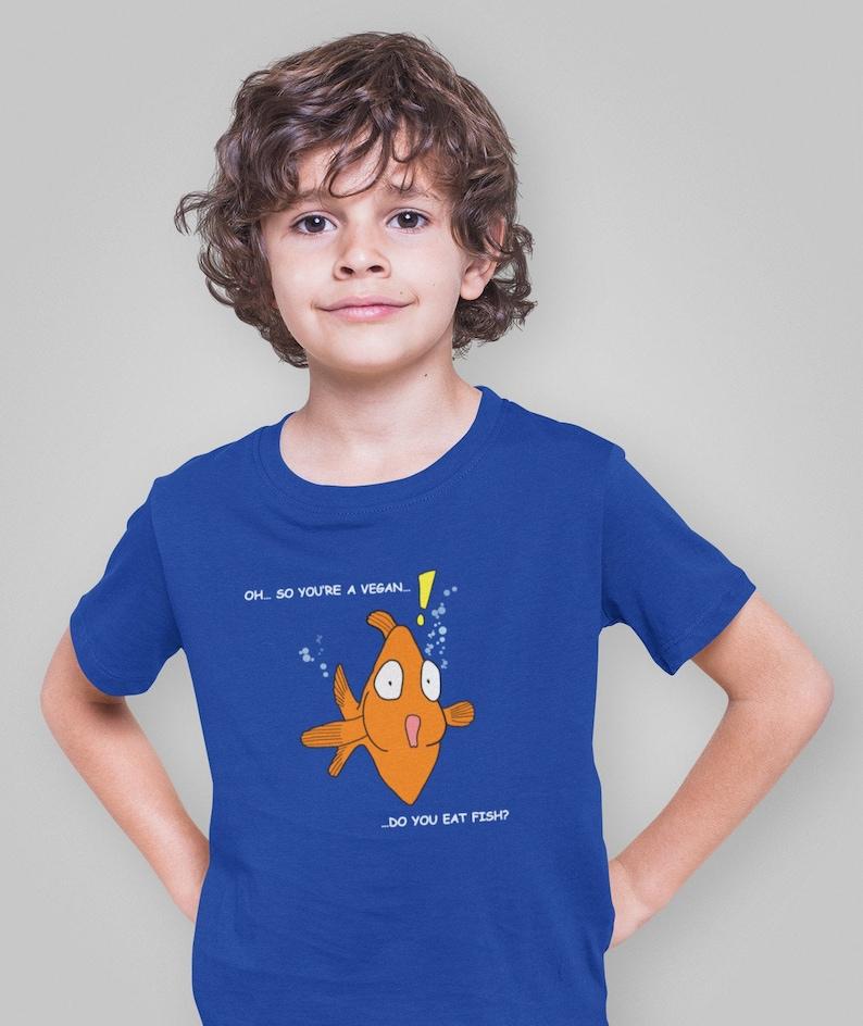 Do You Eat Fish   kids vegan shirt vegan t shirt vegan image 0