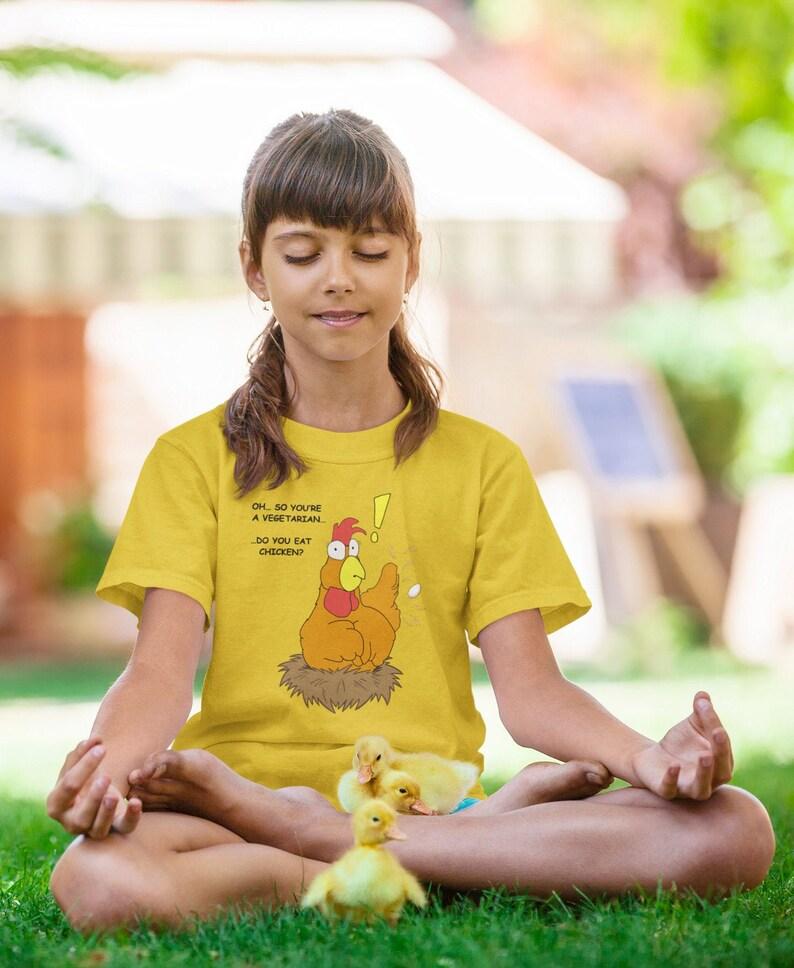 Do You Eat Chicken  kids vegetarian shirt vegetarian t image 0