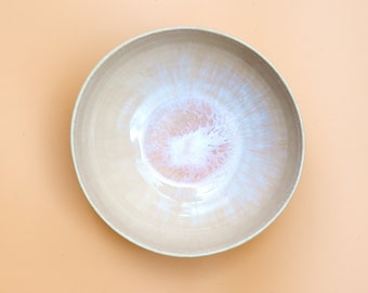 Bowl bowlbowls in ceramic (17 cm) in rosé with hand-painted spiral decoration | 2 bowls