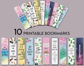 Printable Bookmarks Template, Printable Bookmarks Set, bookmarks, Digital Bookmark Template, Instant Download, Mandala, Flowers, Book