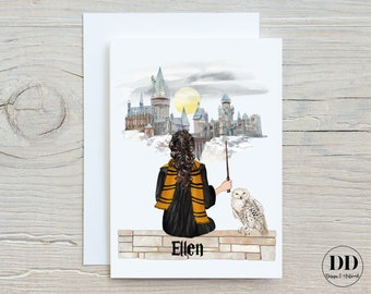 Personalised Birthday Card Best Friend Boy Girl Harry Potter Magical Children's