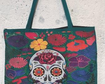 D\u00eda de Muertos Market Bag Day of the Dead