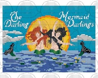 Darling Mermaid Darlings cross stitch pattern