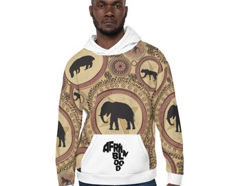 Unisex Hoodie Afrkn Animals