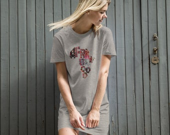 AfrknBlood Afrkn patterns organic cotton t-shirt dress