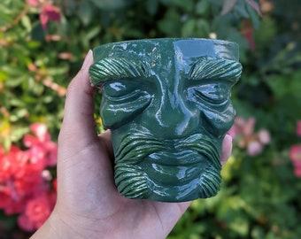 Mystic Pot Head (3.5 inches tall) handmade planter