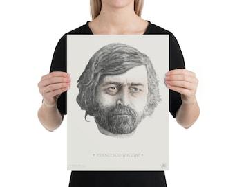 Francesco Guccini | portrait | illustration | high quality printing | artwork on posters